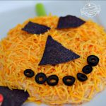 Jack-O-Lantern Taco Dip For a Crowd