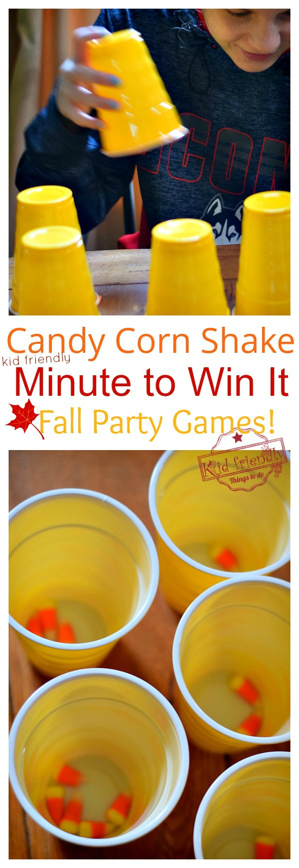 fall minute to win it party game for kids