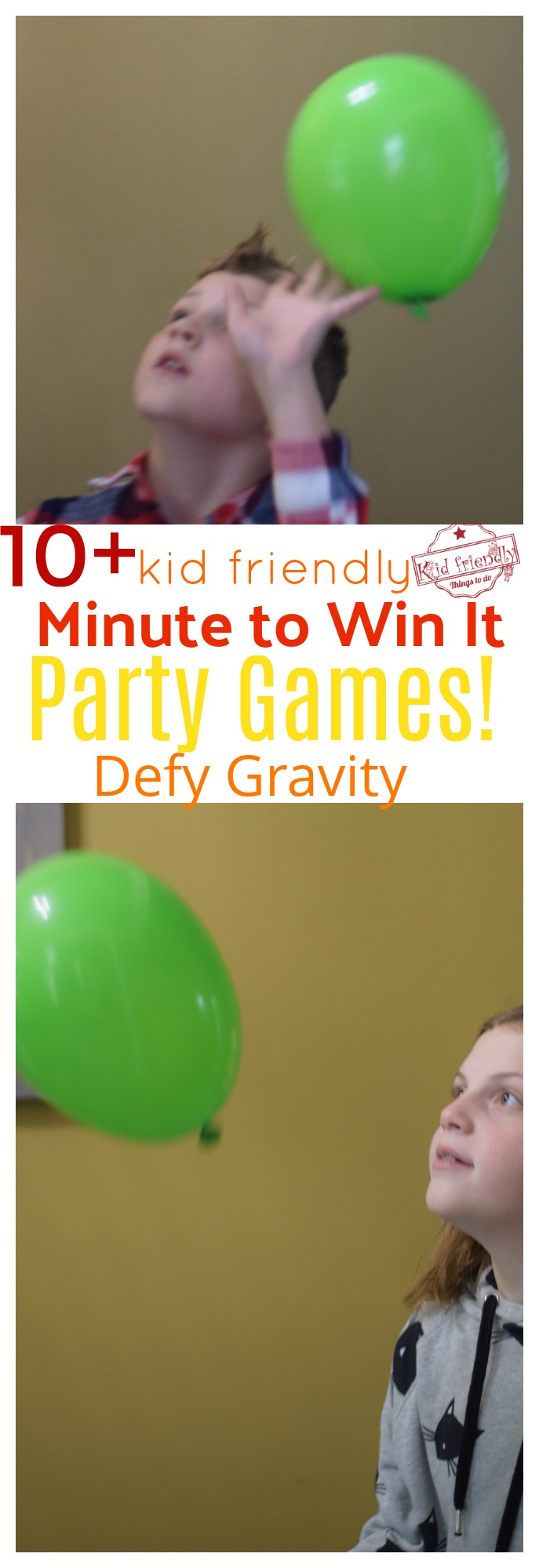 minute to win it game defy gravity game for kids