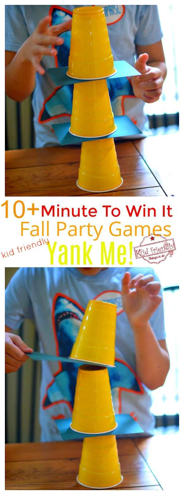 fall minute to win it games for kids