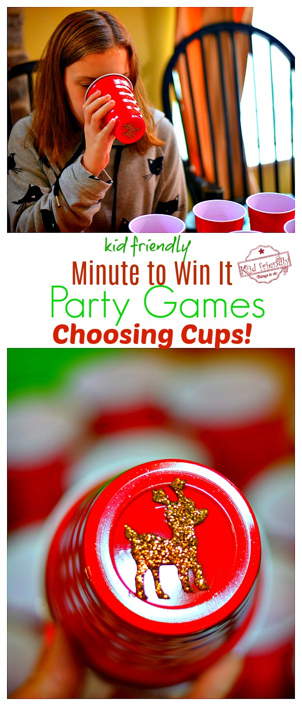 choosing cups minute to win it christmas game