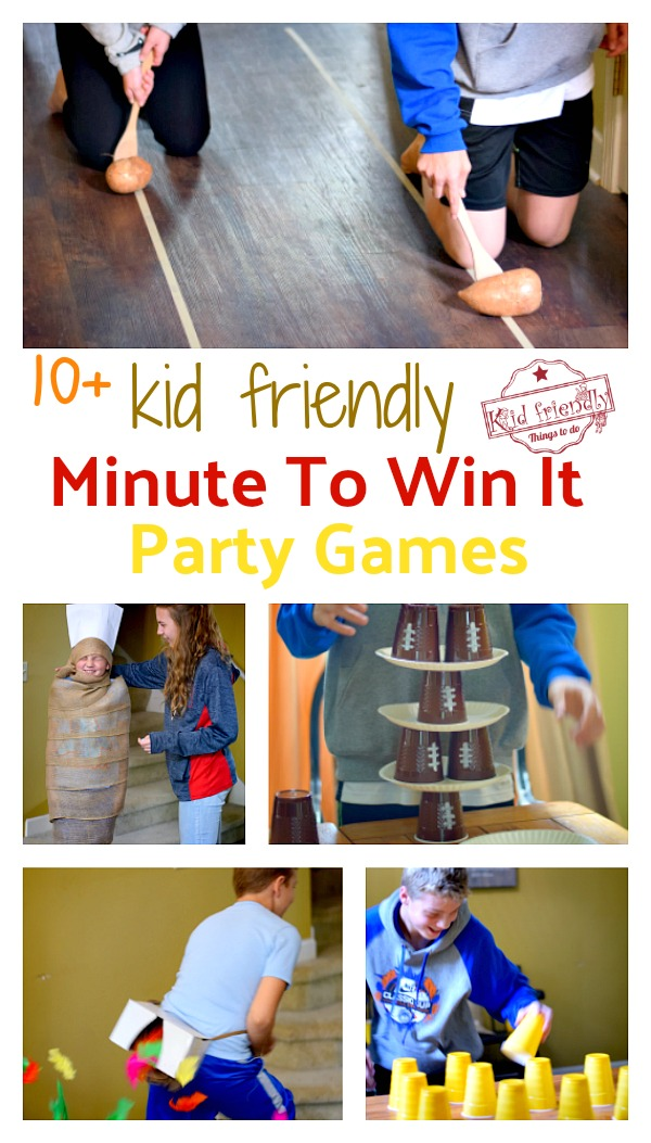 over 10 kid friendly minute to win it games