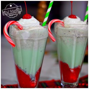 Christmas Cherry Mint Milkshake Recipe | Kid Friendly Things To Do