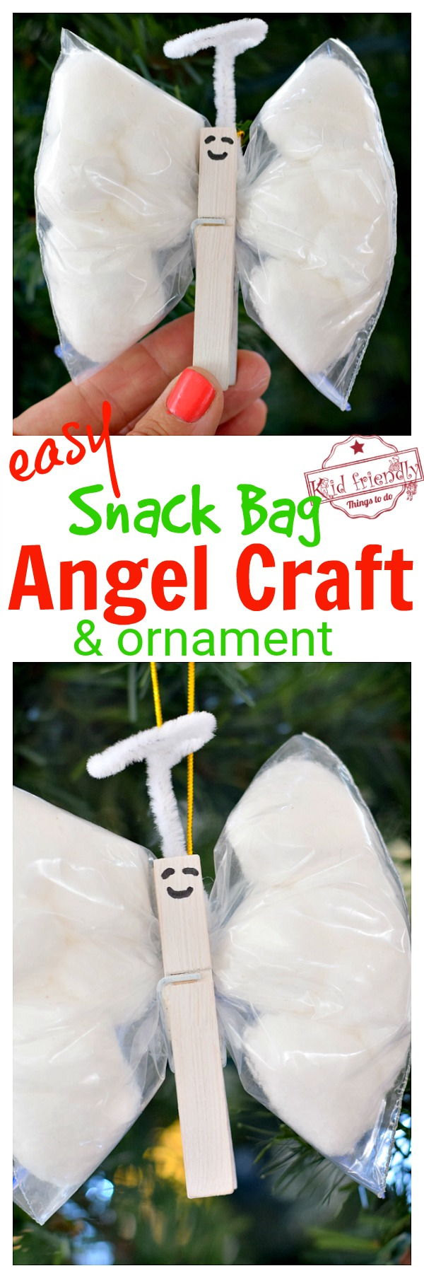 easy angel ornament to make