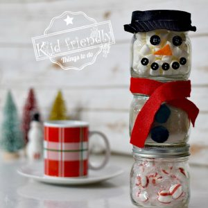 DIY Snowman Hot Chocolate Kit in Jars | Kid Friendly Things To Do