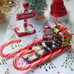 How To Make a Christmas Candy Cane Sleigh | Kid Friendly Things To Do