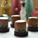 Chocolate Marshmallow Snowman for Hot Chocolate Bar