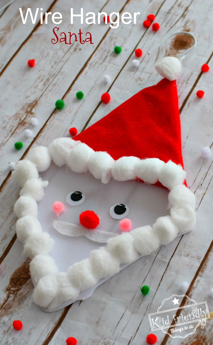 Make a Santa Craft out of a wire hanger