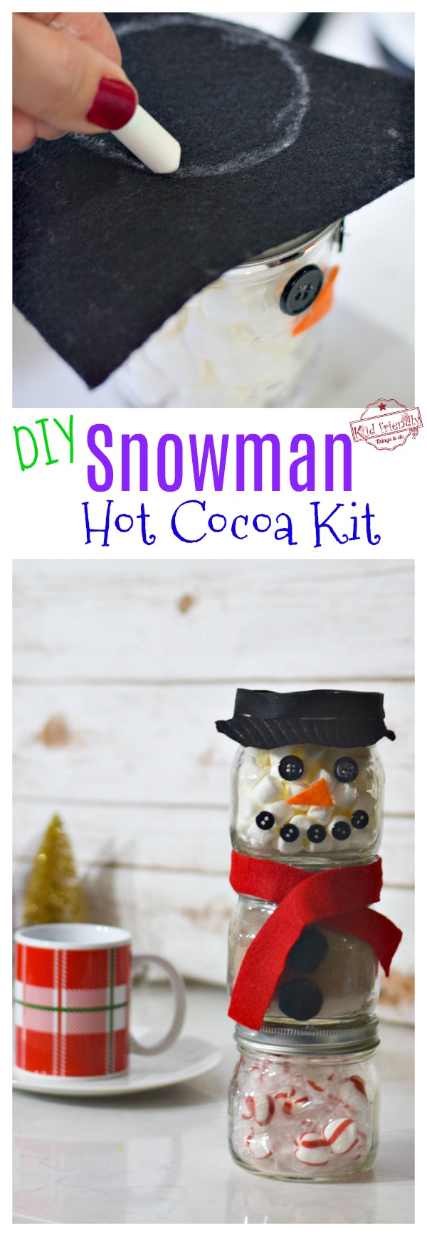 easy snowman hot chocolate kit with jars