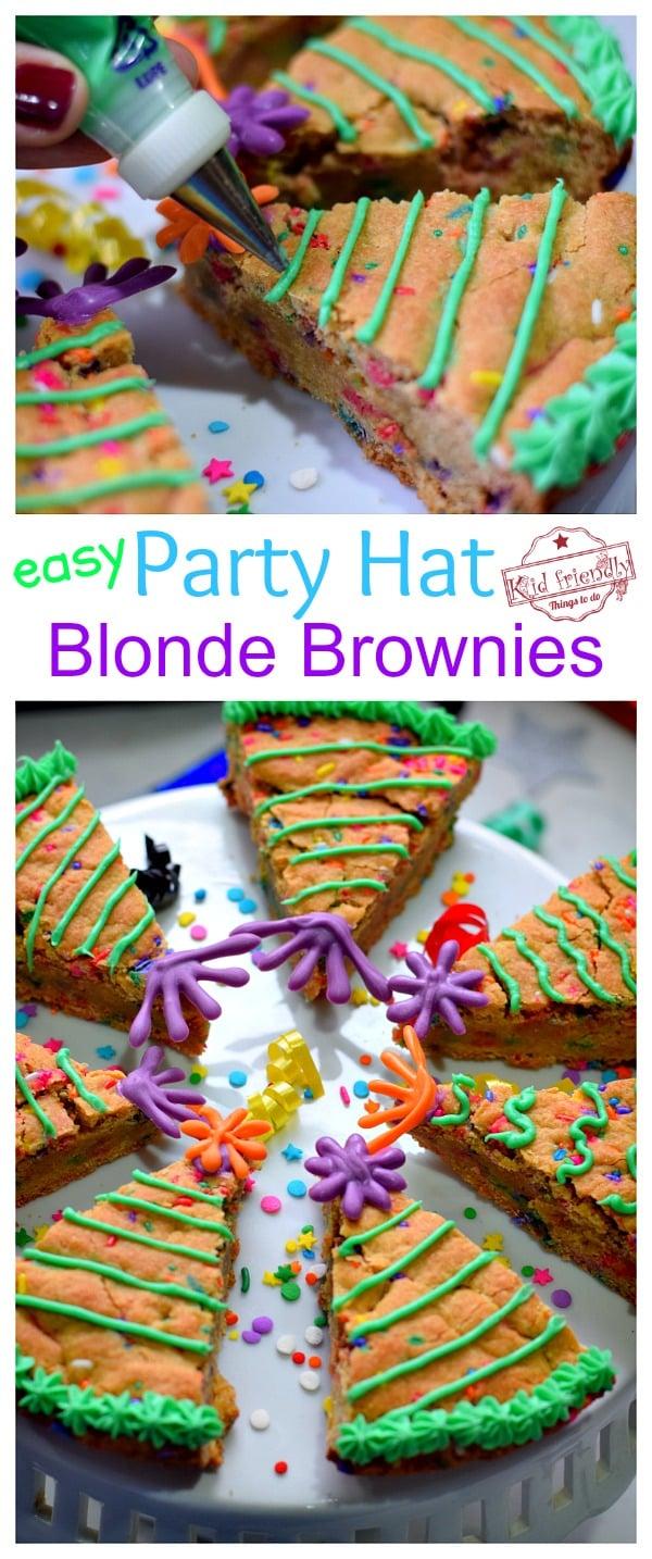 Blonde Brownie Party Hat Dessert Treats
