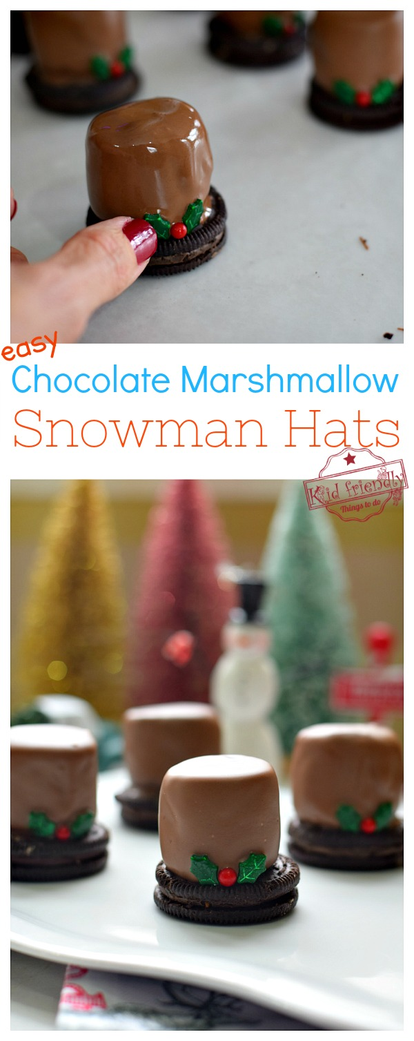 how to make a marshmallow snowman hat