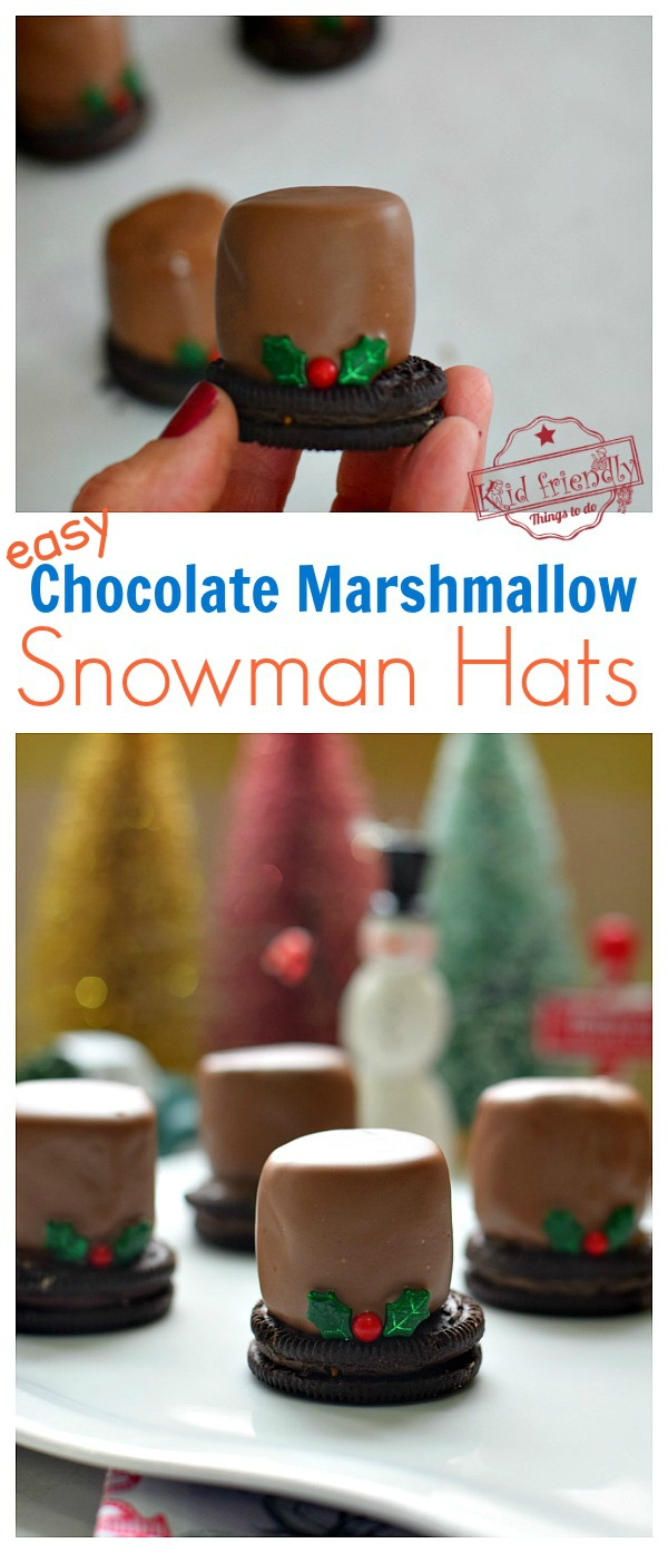 Chocolate Snowman Marshmallow