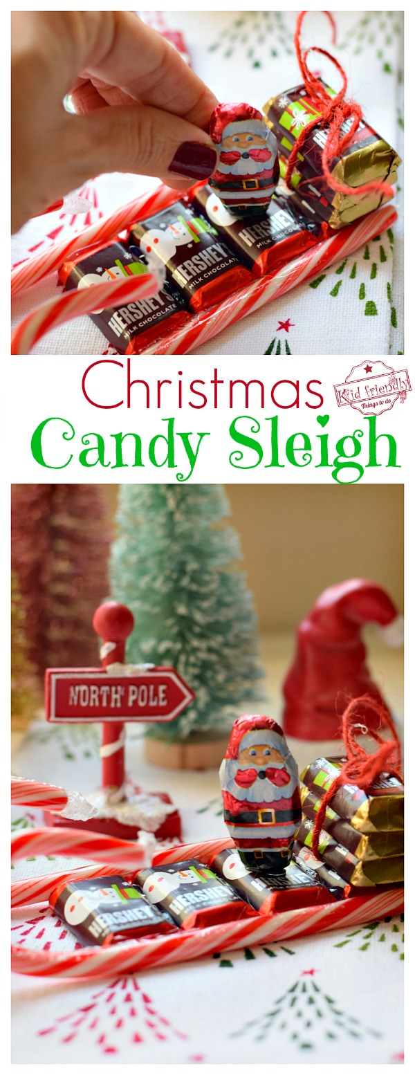 How to make a Christmas Candy Sleigh