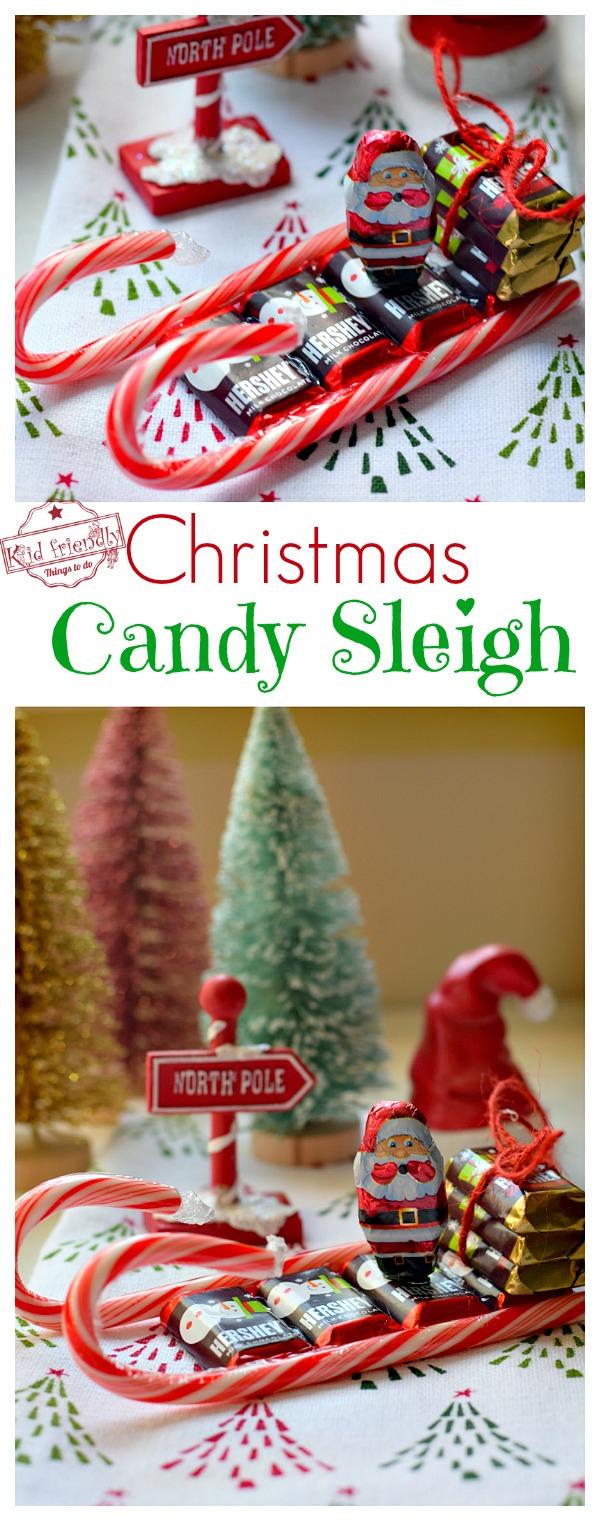 Christmas Candy Sleigh Party Favor Idea