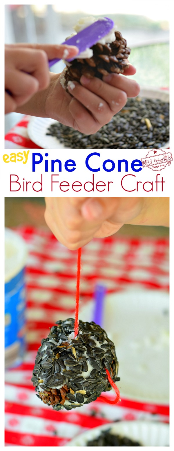 DIY Pine Cone Bird Feeder an Easy Craft to Make at Home
