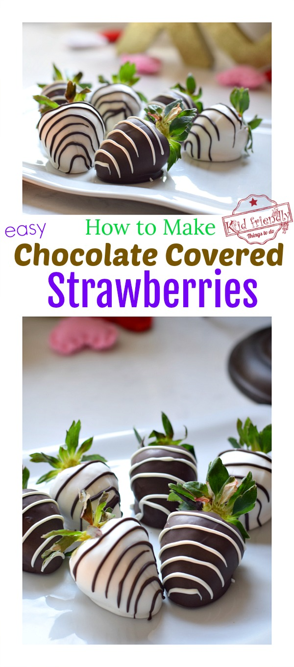 How to make easy and beautiful Chocolate Covered Strawberries