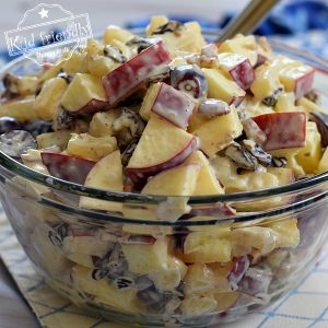 Old Fashioned Waldorf Salad {For a Crowd} |  Kid Friendly Things To Do