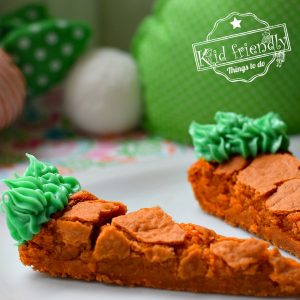 Carrot Shaped Blonde Brownies {A Fun Easter Treat for Kids} | Kid Friendly Things To Do