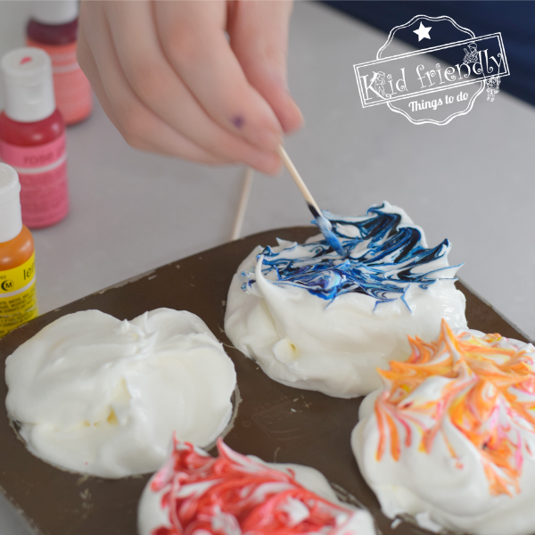dye Easter Eggs with whipped cream