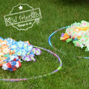 Lei Necklace Relay Race { A Hilarious Summer Outdoor Game for Kids) | Kid Friendly Things To Do