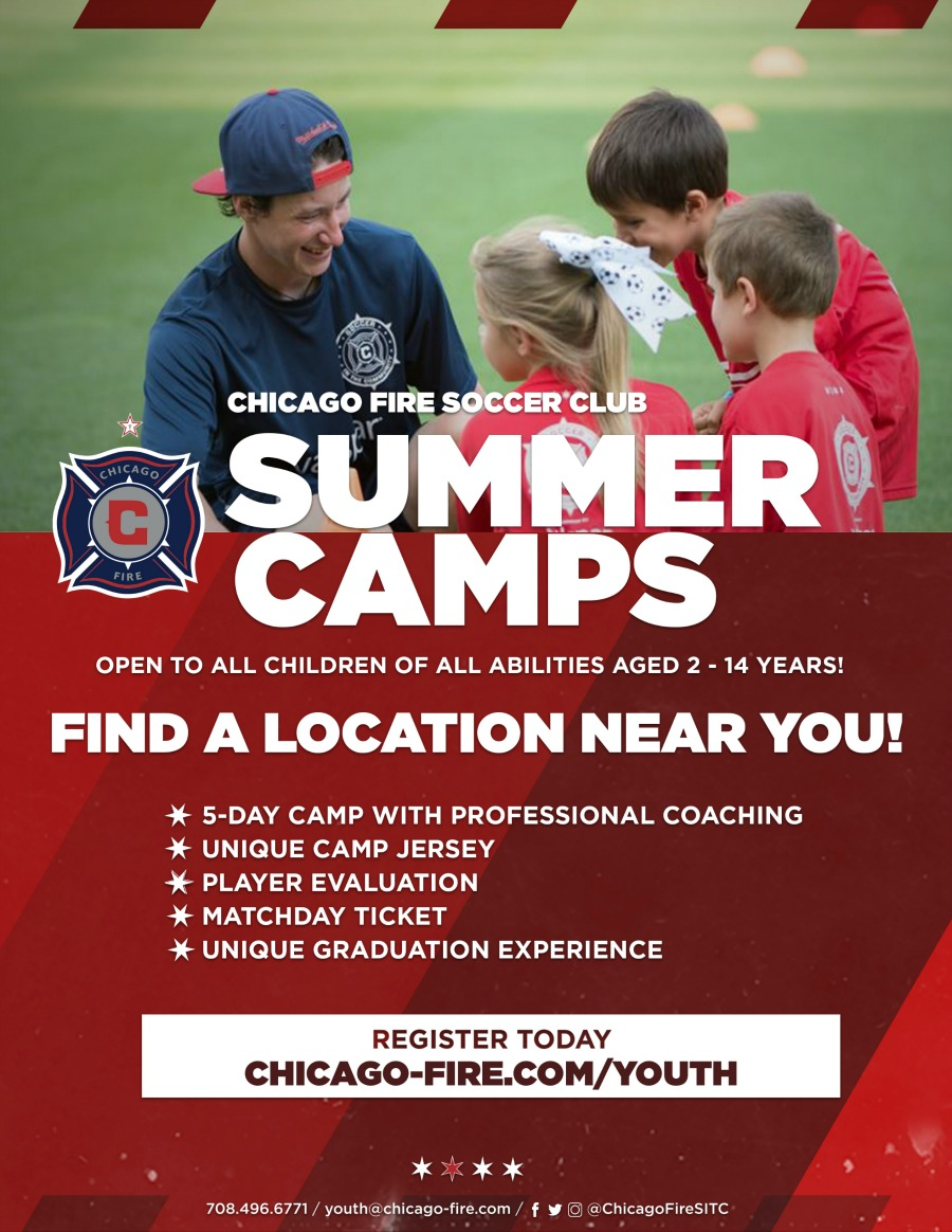 Chicago Fire Youth Summer Camp Flyer