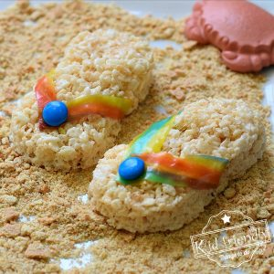 how to make flip-flops Rice Krispies Treats - a fun beach, pool, and summer treat