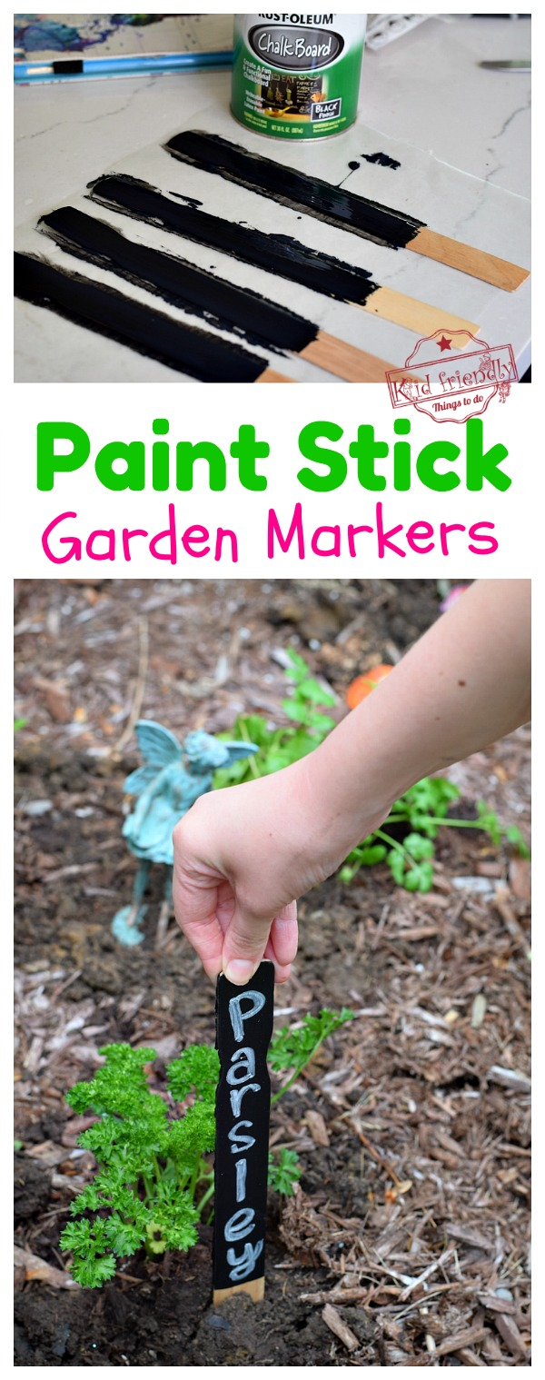 Paint Stick Garden Markers for kids