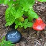 Painted Rock Idea - Chalk Painted Garden Markers