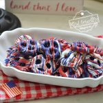 Making Red, White and Blue Chocolate Covered Pretzels