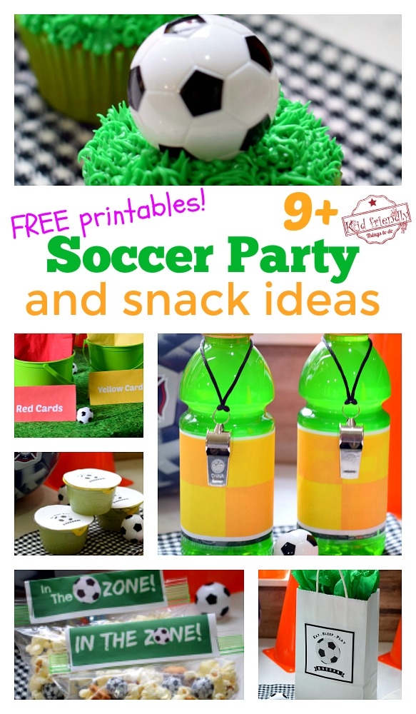 soccer party and snack idea with free printables