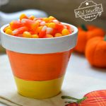 Candy Corn Clay Pot Craft for Fall and Halloween