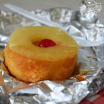 Pineapple Cake in a foil packet