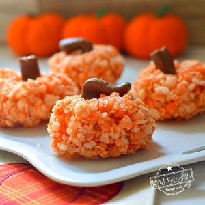Rice Krispies Treats Pumpkins {for Fall or Halloween} | Kid Friendly Things To Do