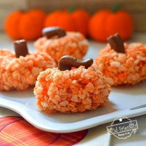Making Rice Krispies Treats Pumpkins