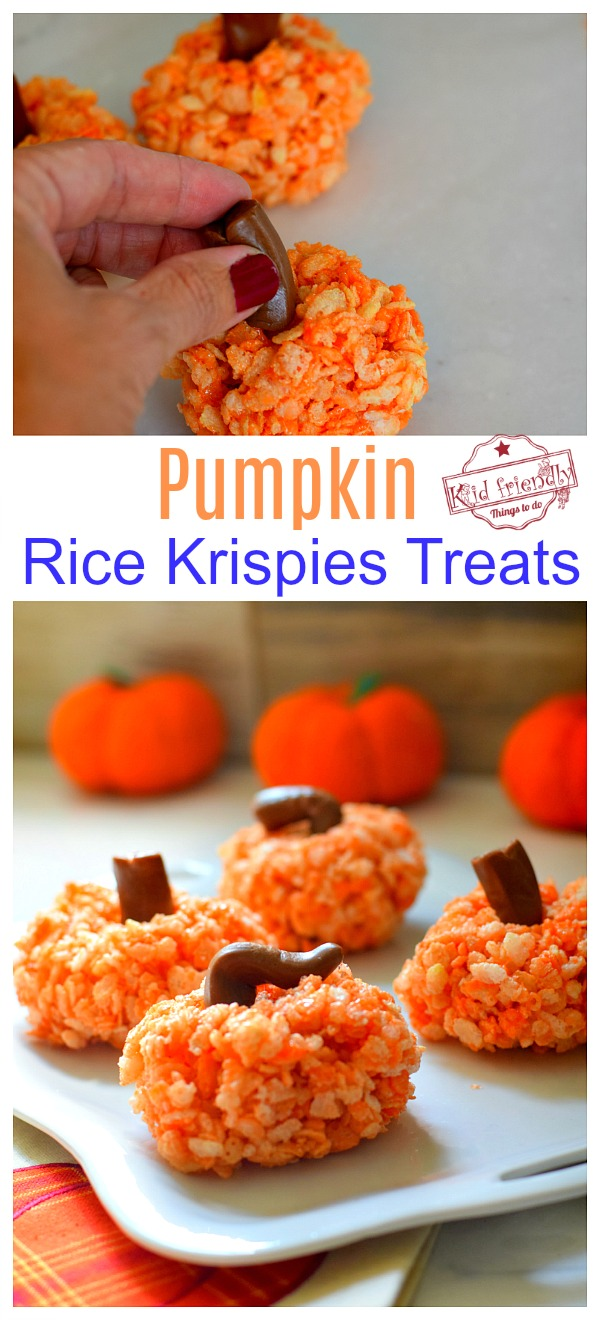 Rice Krispies Treats Pumpkins
