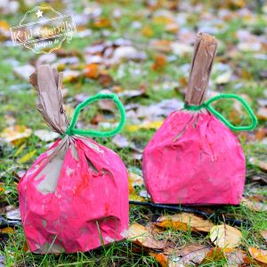Paper Bag Apple Craft for Kids to Make | Kid Friendly Things To Do