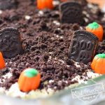Cemetery Cookie Dessert for Halloween