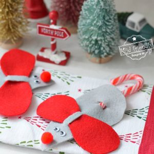 how to make Candy Cane Christmas Mice