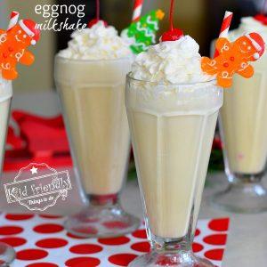 Eggnog Milkshake Drink