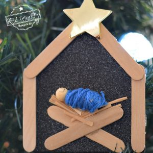 Popsicle Stick Nativity Ornament Craft | Kid Friendly Things To Do