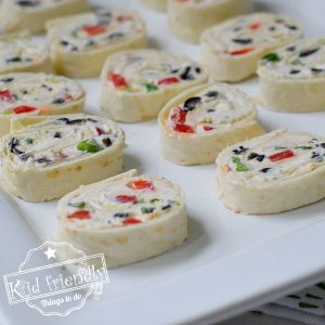 Making Ranch Tortilla Pinwheel Appetizers