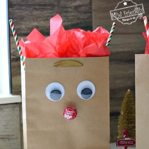 making Rudolph Treat Bags