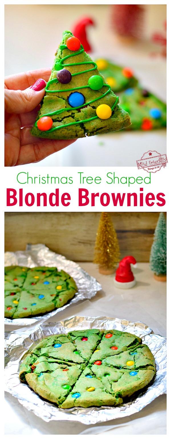 Christmas tree shaped brownie recipe
