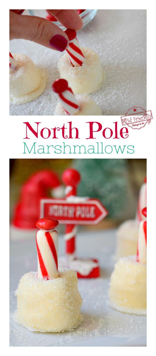 north pole Christmas treats
