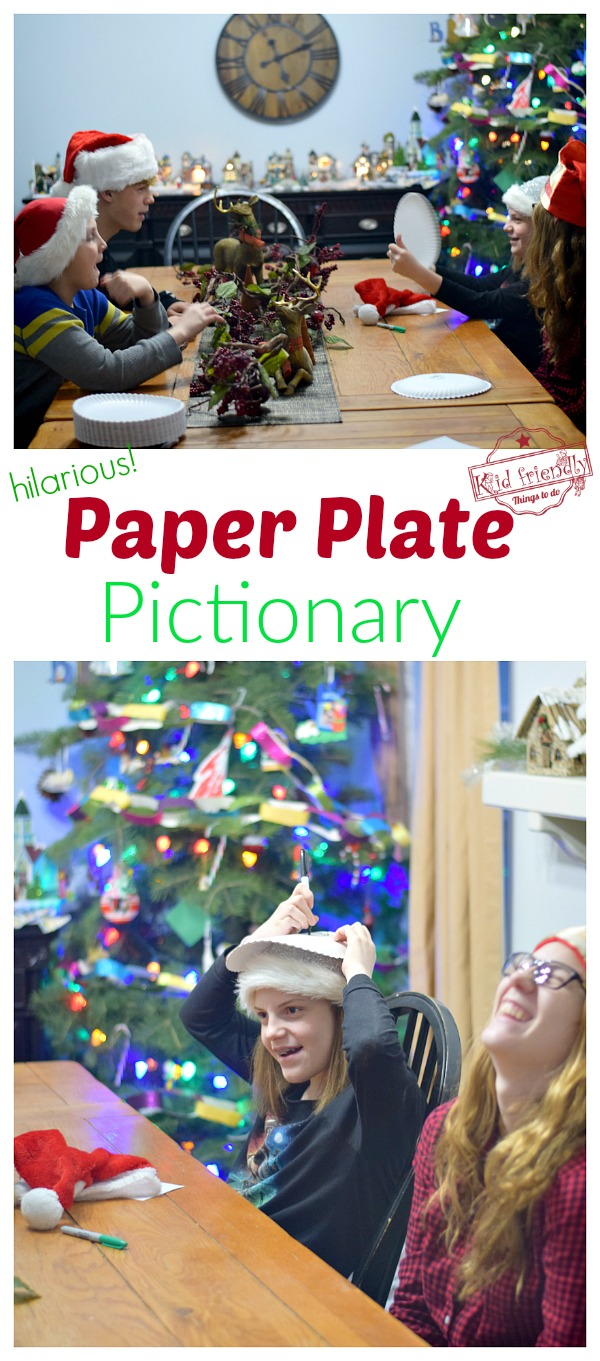 Paper Plate Pictionary Game Idea for kids and teens