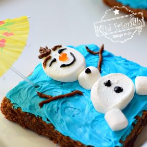 Olaf from Frozen Food Idea