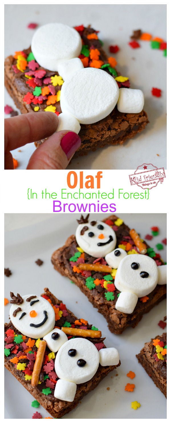 Olaf Brownie Treat