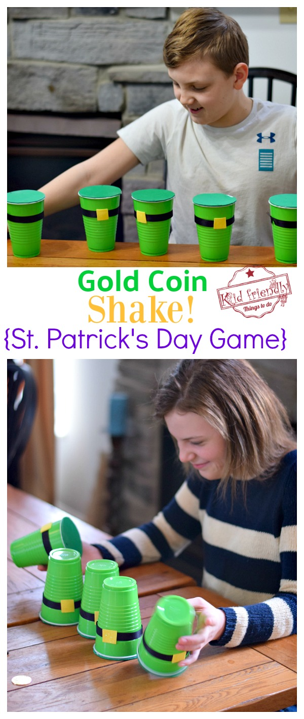 Gold Coin Shake Game for St. Patrick's Day