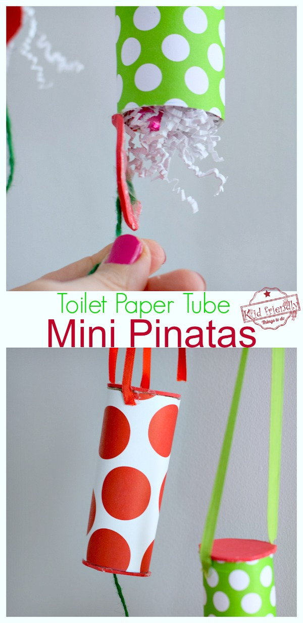 how to make a toilet paper tube pinata