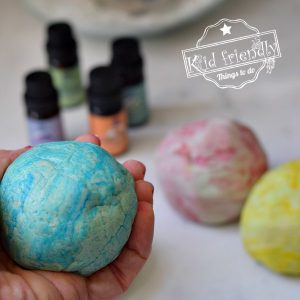 Scented No Cook Playdough {with Essential Oils} | Kid Friendly Things To Do